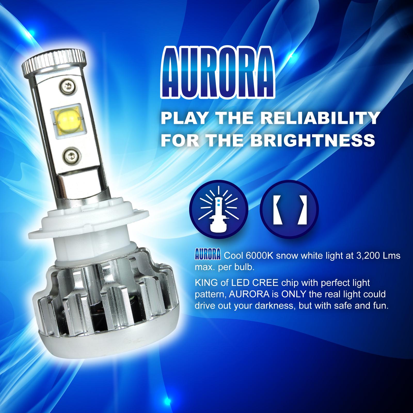 40W CREE MK-R LED Headlight Bulbs Acura RSX 2002 2003 2004